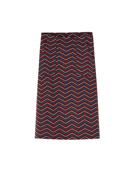 Tweed midi skirt