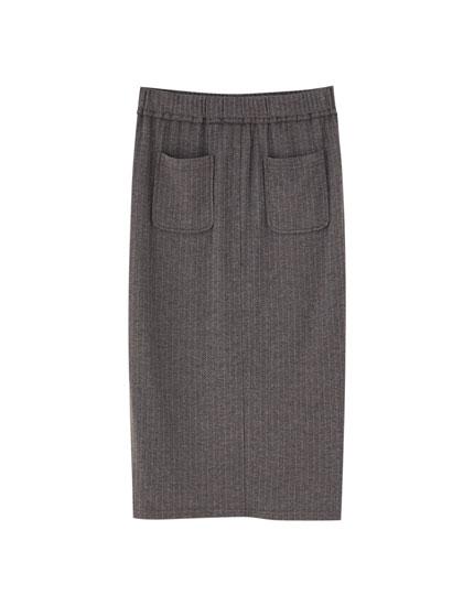Falda midi básica