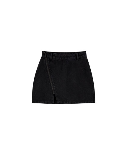 Jupe en jean courte zippée
