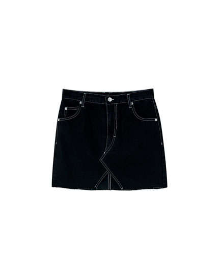 Pull&Bear by Rosalía denim mini skirt