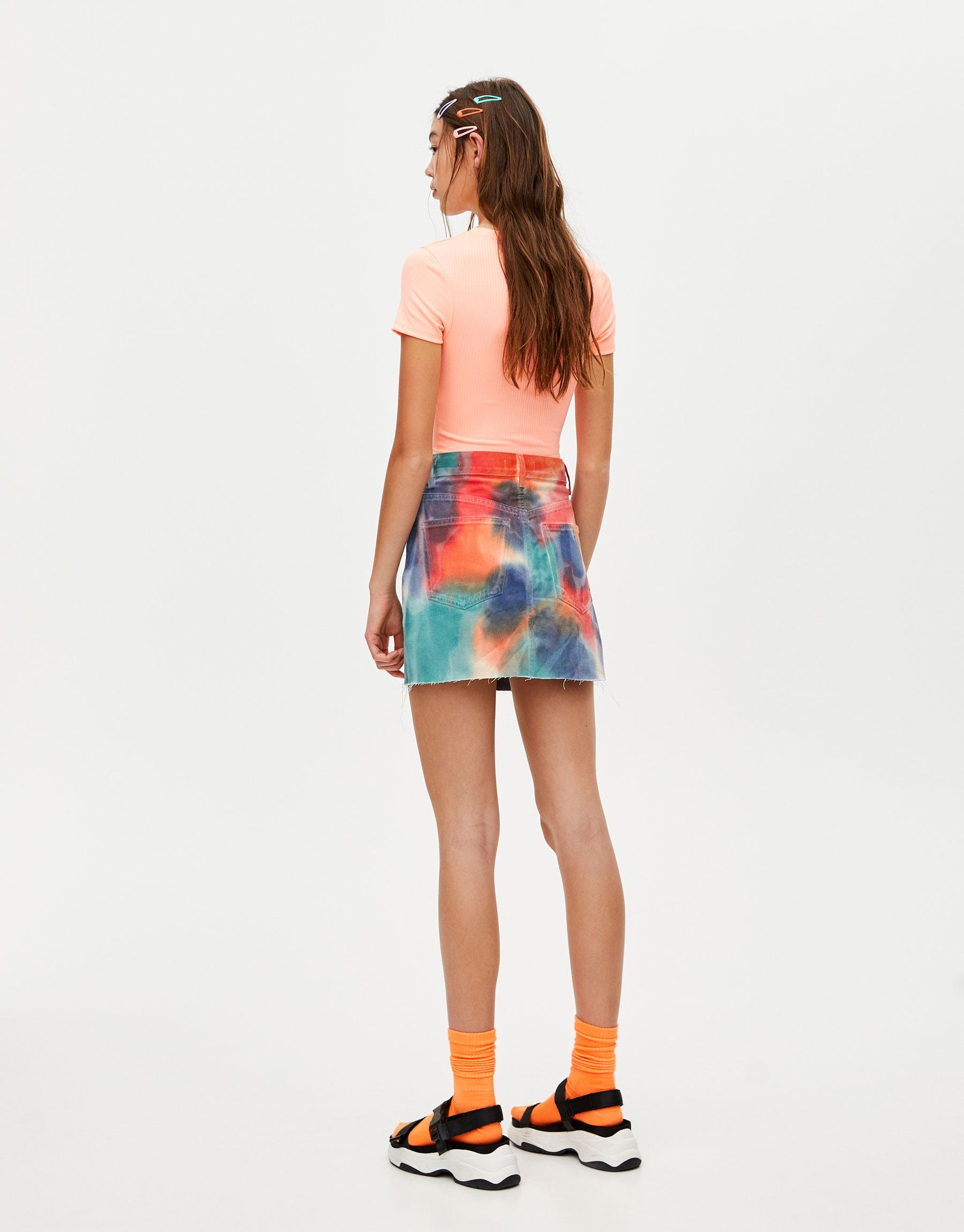 967ea55d644f0 Multicoloured tie-dye mini skirt. Pullbear Pullbear. 39.90 $