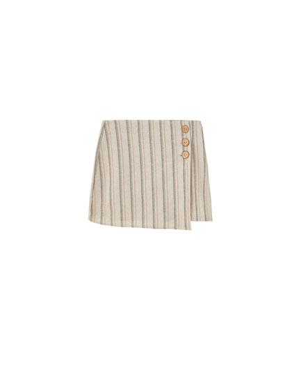 Falda pantalón rayas rústica