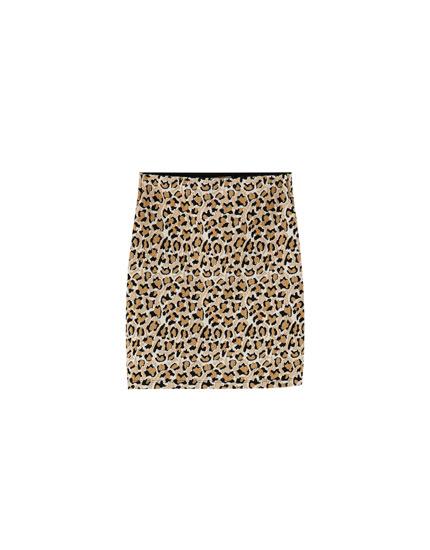 Minifalda estampado leopardo