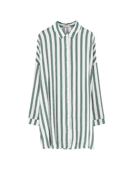 Colourful print shirt dress