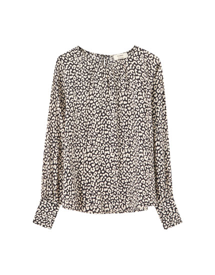 Blouse manches longues col rond