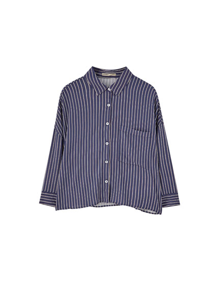 Basic long sleeve check shirt