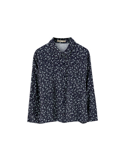 Floral 3/4 sleeve shirt