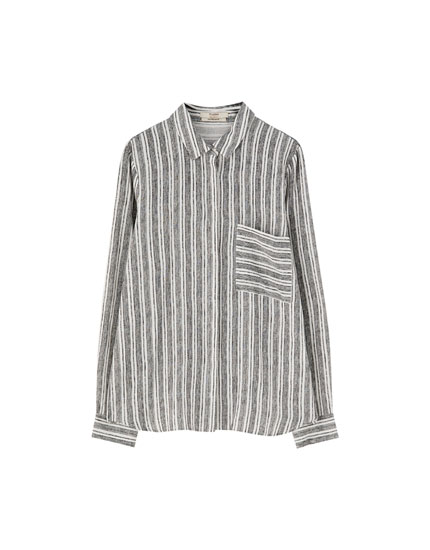 Rustic striped shirt