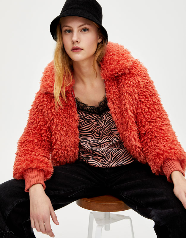 Animal Print Camisole Top by Pull & Bear