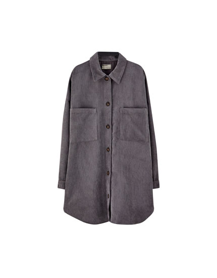 Grey corduroy overshirt