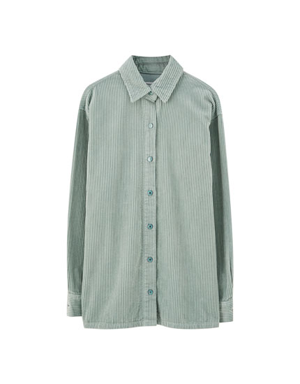 Coloured corduroy shirt
