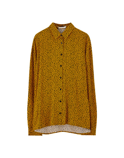 Coloured leopard print shirt