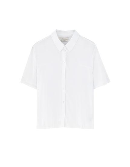 Unifarbenes Basic-Hemd mit kurzen Ärmeln