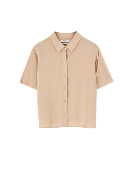 Basic short sleeve plain shirt