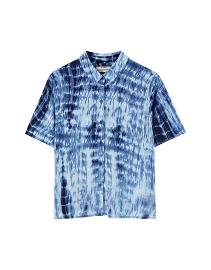 Tie-dye short sleeve shirt