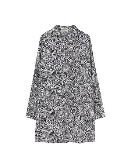 Camisa vestido de zebra