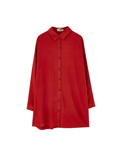 Gładka sukienka koszulowa