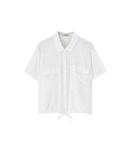 Plain short sleeve shirt