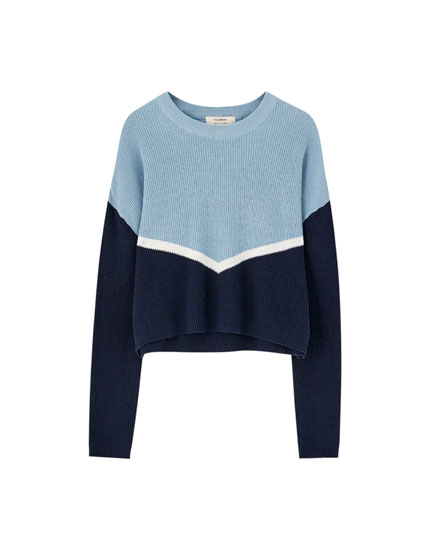 Sporty striksweater