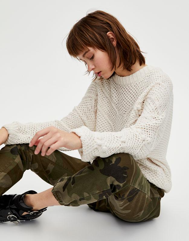 Sweater Punto Bodoque Chenilla by Pull & Bear