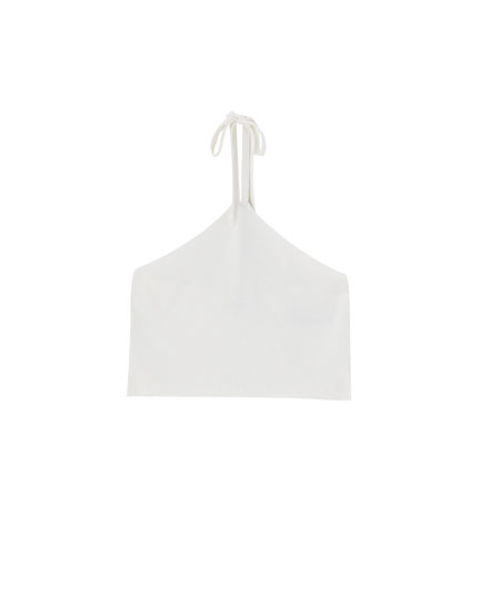 Basic top with knotted neckline