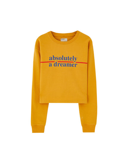 Colourful text sweatshirt