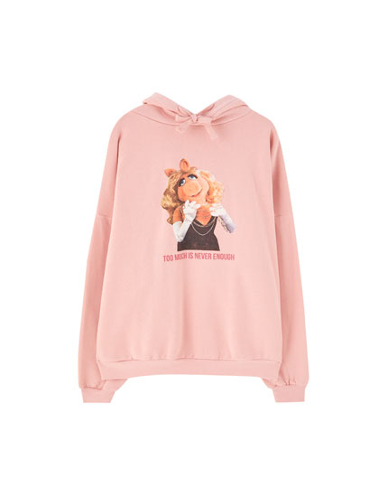 Rosa Sweatshirt Miss Piggy