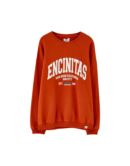 'Encinitas' slogan sweatshirt