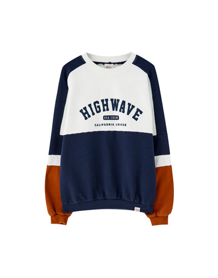 Sudadera paneles 'Highwave'