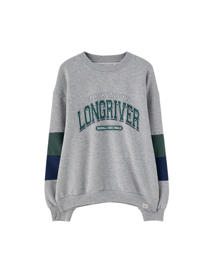'Longriver' colour block sweatshirt