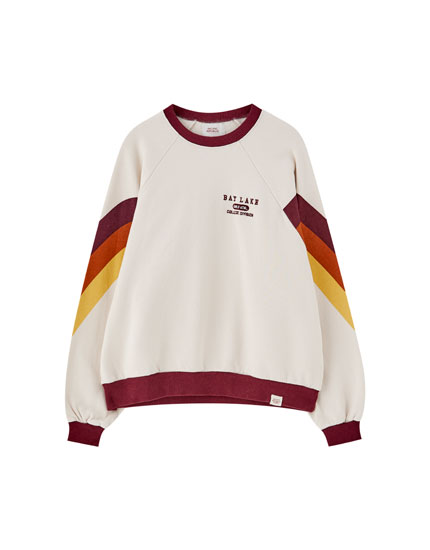 Retro colour block sweatshirt