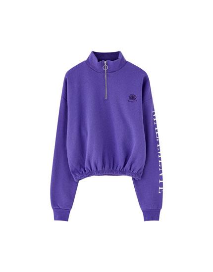Pull&Bear by Rosalía purple sweatshirt