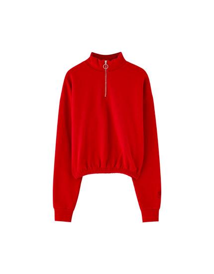 Pull&Bear by Rosalía red sweatshirt