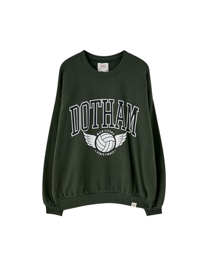 College-Sweatshirt mit Slogan