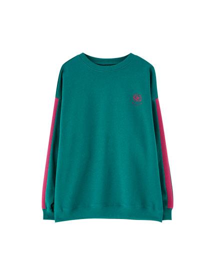 Pull&Bear by Rosalía ribbons sweatshirt