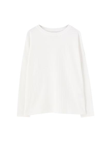 Basic round neck sweatshirt