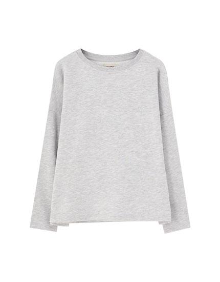 Bluză sport simplă cu guler rotund