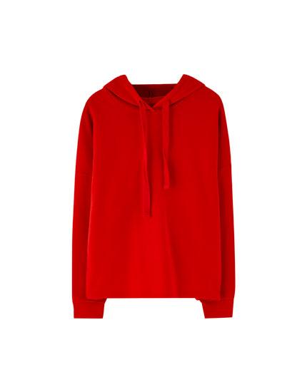 Ribbed hoodie