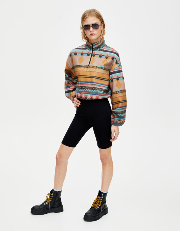 Sweat Polaire Ethnique by Pull & Bear