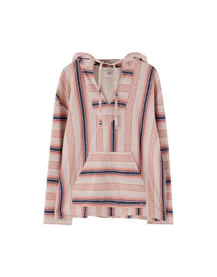 Rustic pouch pocket sweatshirt