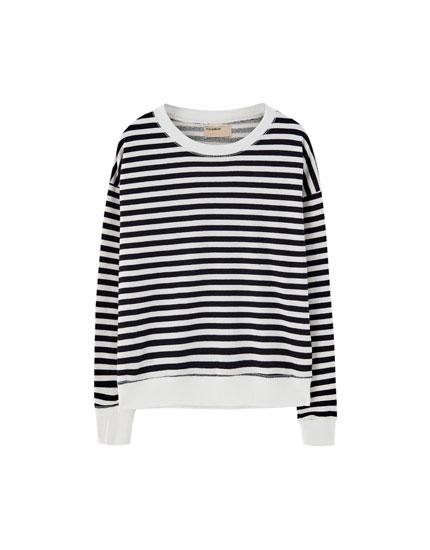 Gestreiftes Basic-Sweatshirt