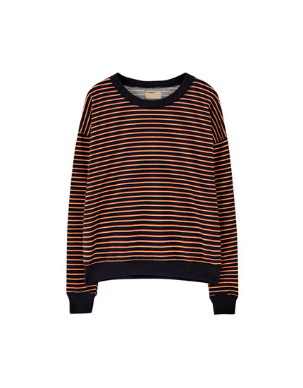 Basic striped sweatshirt