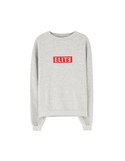 Sweat Netflix Élite gris