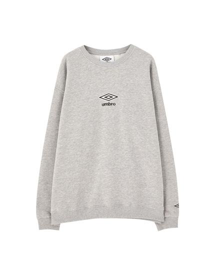 Basic Umbro x Pull&Bear sweatshirt with logo