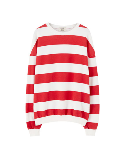 Wide stripe sweatshirt