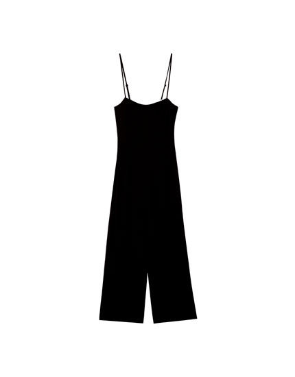 Jumpsuit with adjustable straps