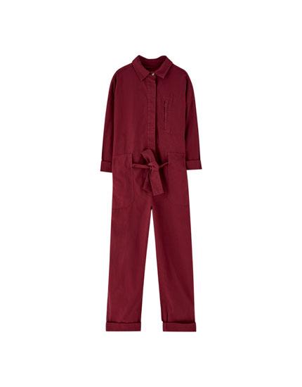 Long coloured jumpsuit
