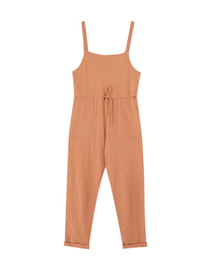 Basic jumpsuit with straps