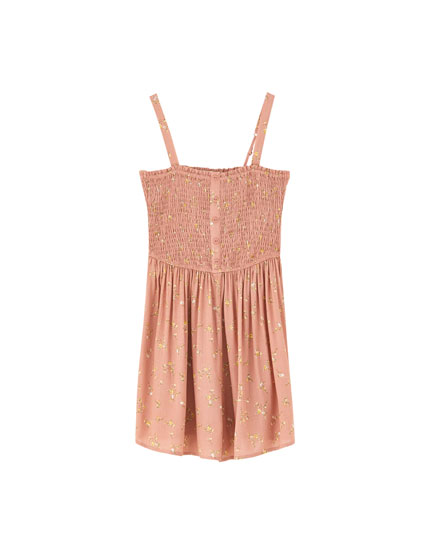 Smocked playsuit