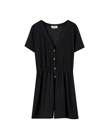 Buttoned playsuit